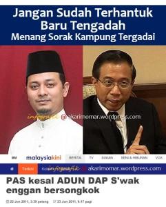 MKini-PAS kesal DAP takpakai songkok-Sarawak2011