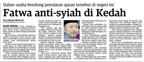 fatwa antisyiah kedah UM19Jul2013
