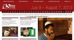 30 Days of Prayer website