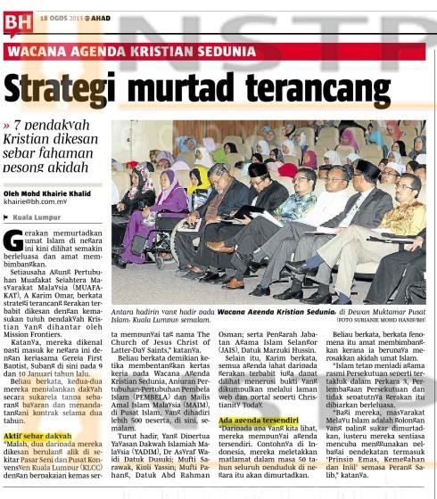 BH-Strategi Murtad Terancang -Wacana18Ogos2013