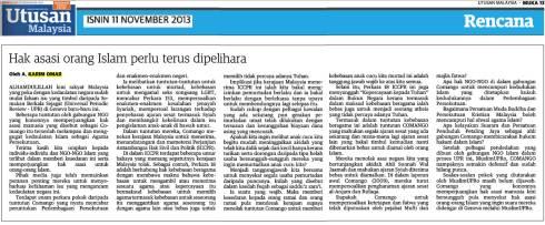 Utusan-AKO-11Nov2013-Hak Asasi Orang Islam