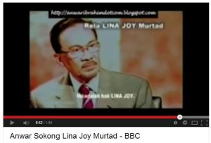 Anwar-BBC on Lina Joy