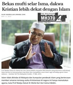 MAZA-Kristian dekat Islam