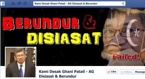 FB desak GANI dipecat