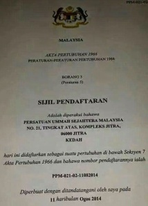 PASMA-sijil daftar
