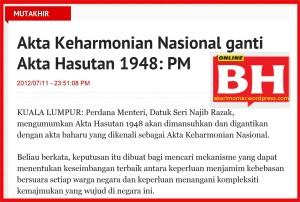 PM2012-Mansuh Akta Hasutan