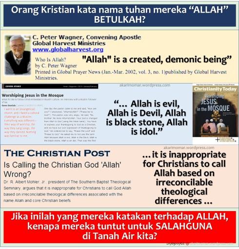 Allah - ditolak tokoh Kristian