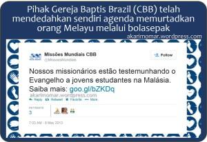 Tweet Gereja Brazil Murtad anak Melayu