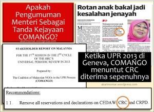 UPR Comango-CRC-Menteri Rotan