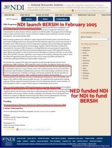 NED-NDI funded Bersih