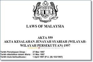 Akta559-jenayahSyariahWP1997