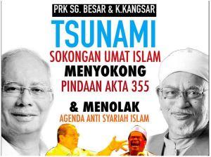 PRK-tsunami sokongan orang Islam
