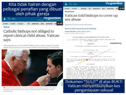 Vatican sorok kes penganiayaan seksual