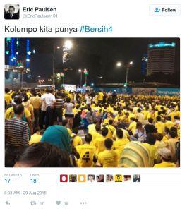 EricPaulsen-tweet-Kolumpo kita punya Bersih4