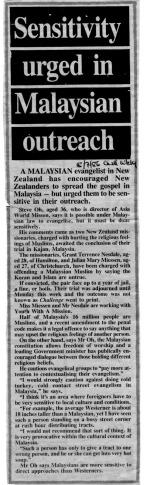 "Christian paper ""Challenge Weekly"" in Wellington, New Zealand, 1986"